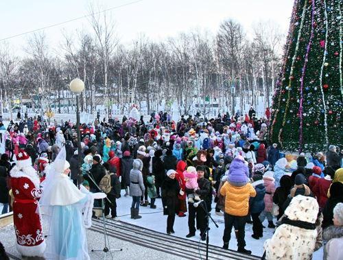 Новый год на улице мероприятия